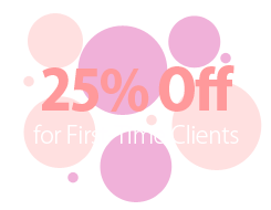 25% Off for Fist-Time Clients